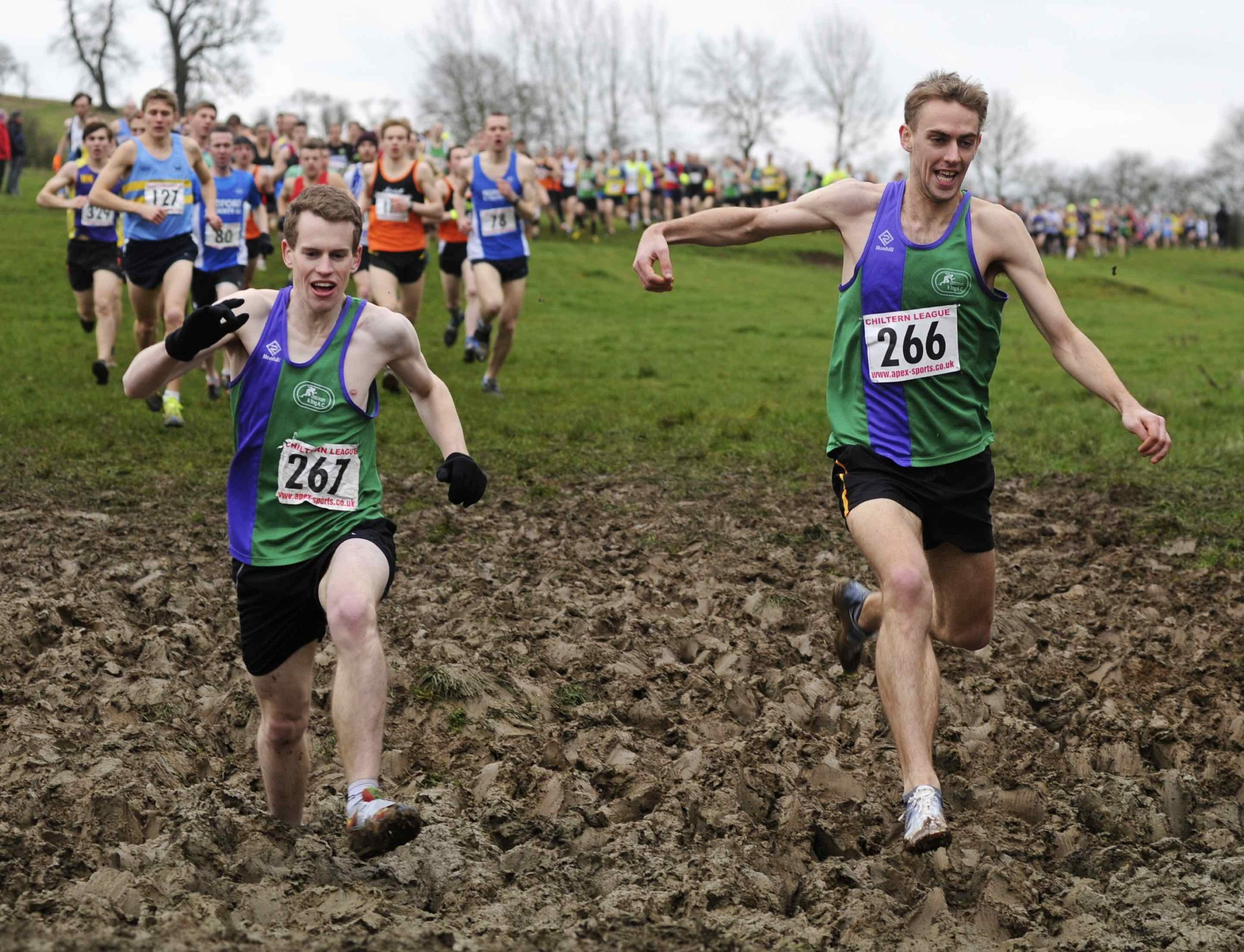 Cross country through the mud